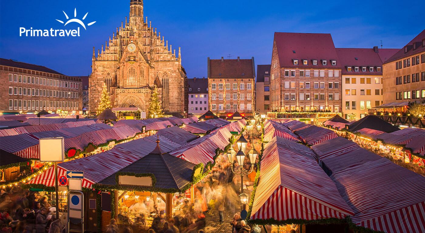 Adventný Norimberg: Navštívte najkrajšie trhy v Nemecku a mesto Vianoc Rothenburg