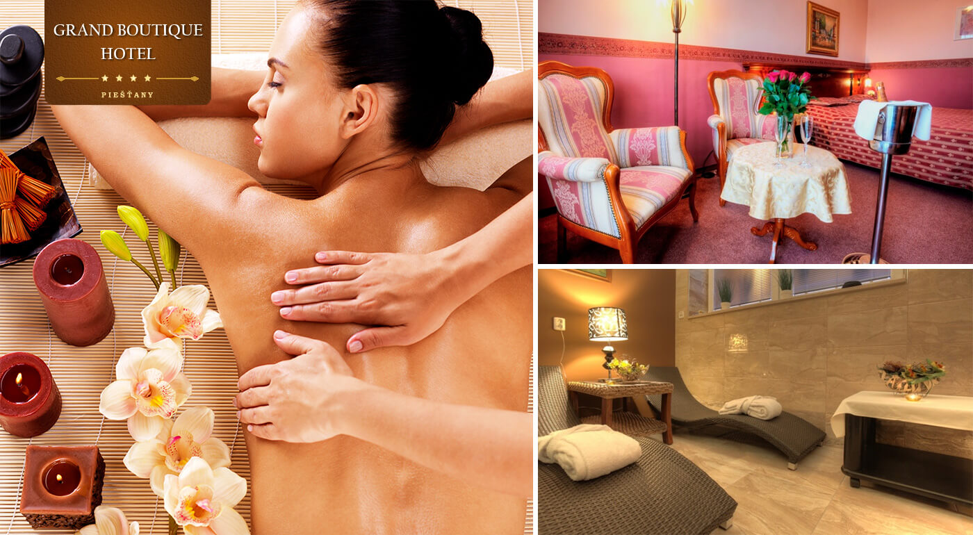 Wellness pobyt v Grand Boutique Hoteli Sergijo**** Piešťany s polpenziou a masážami