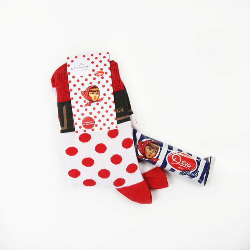 FunnySOX ponožky Deva bodkované - veľkosť 36-40