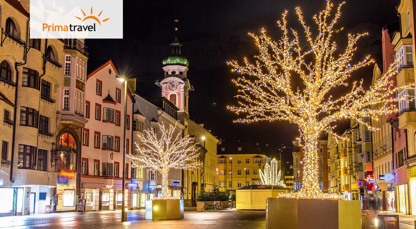 Vianočný Innsbruck a Swarovského svet krištáľov na dvojdňovom zájazde