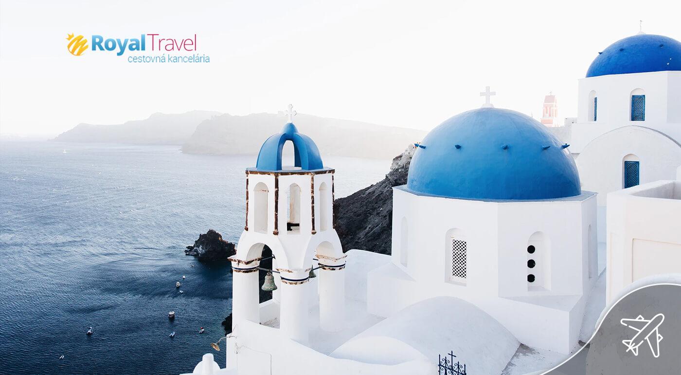 Grécko: Letecký poznávací zájazd na ostrov Santorini na 5 dní