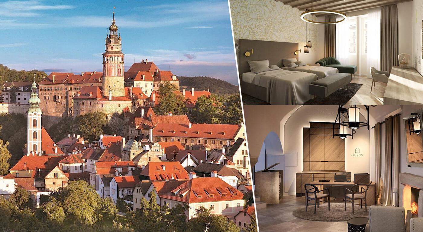 Český Krumlov: Romantický pobyt v Hoteli Old Inn**** na 1 alebo 2 noci