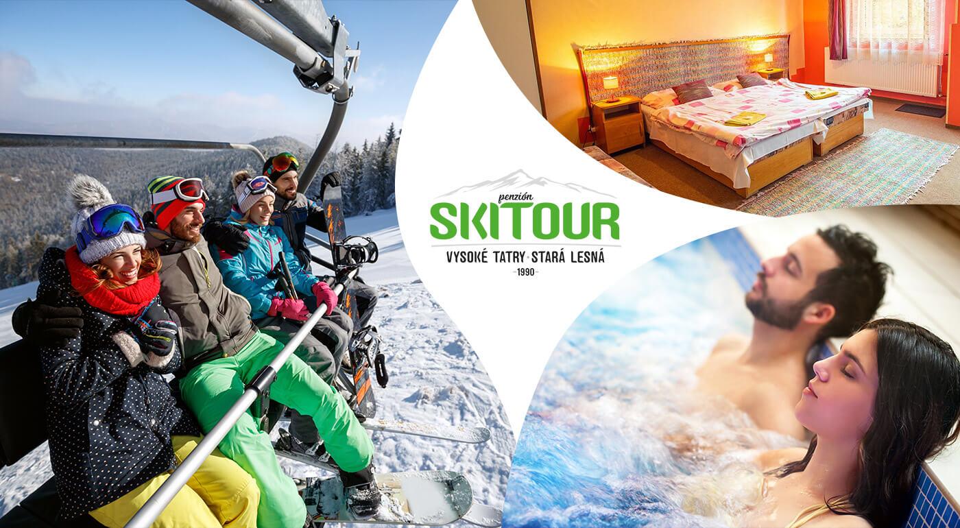 Vysoké Tatry: Zimný pobyt v Penzióne Skitour**+ na 4 dni s kúpaním v AquaCity Poprad