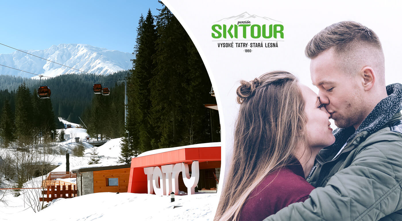 Romantický pobyt v Penzióne Skitour**+ Vysoké Tatry s romantickým prekvapením a vstupom do Aquacity Poprad