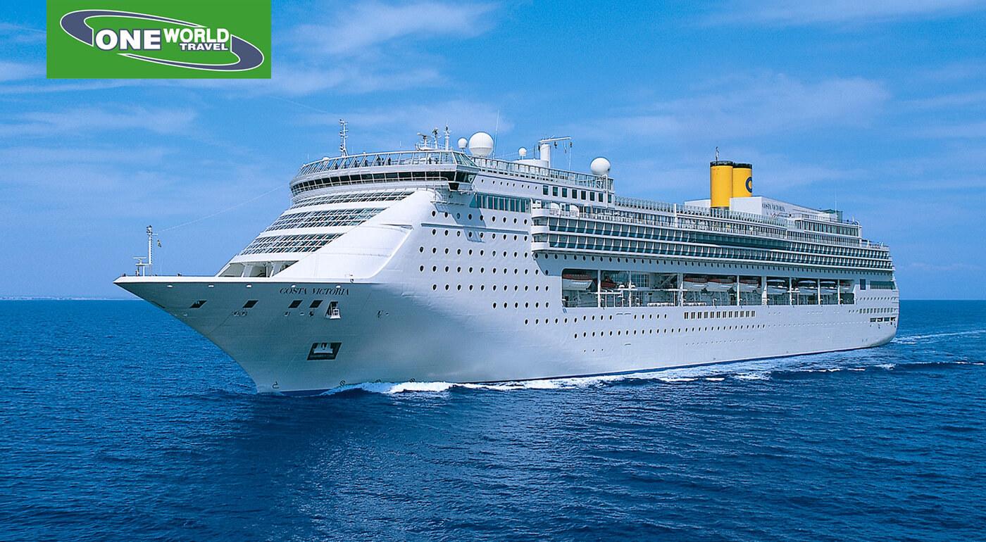 8-dňová okružná plavba po Indickom oceáne luxusnou loďou Costa Victoria