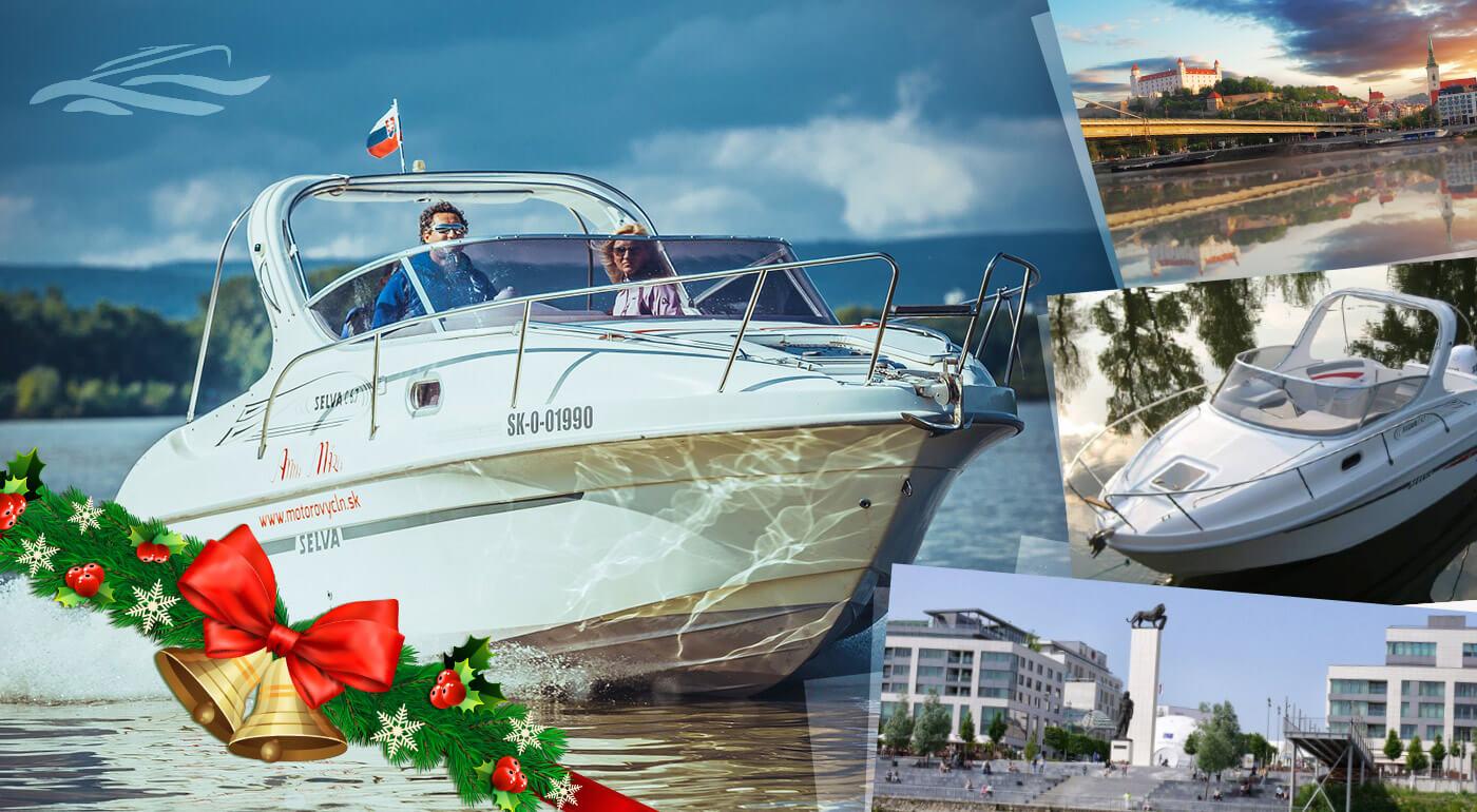 Plavba po Dunaji na motorovom člne pre 6 osôb - perfektný tip na vianočný darček!
