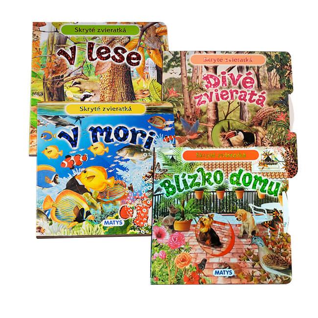 Vydavateľstvo Matys: Skryté zvieratká: Blízko domu, V lese, V mori, Divé zvieratá