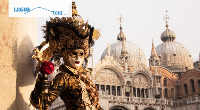 Benátsky karneval je niečo, čo sa oplatí vidieť aspoň raz za život. Vyberte sa do Talianska s CK Legiotour a zažite fašiangovú atmosféru svetoznámeho karnevalu na vlastnej koži.
