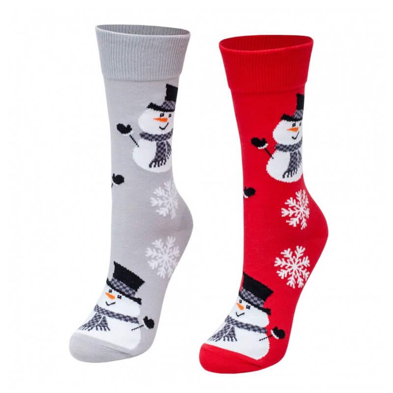 Crazy Step ponožky Vianoční snehuliaci - veľkosť 39-42