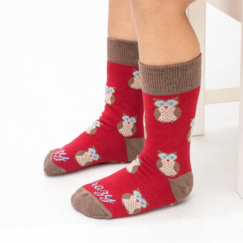 Crazy Step detské ponožky Sovička - veľkosť 23-26