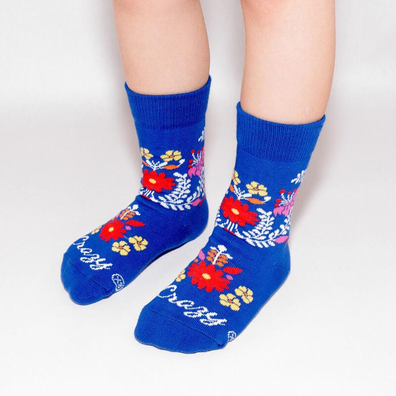 Crazy Step detské ponožky Folk kvietky - veľkosť 23-26