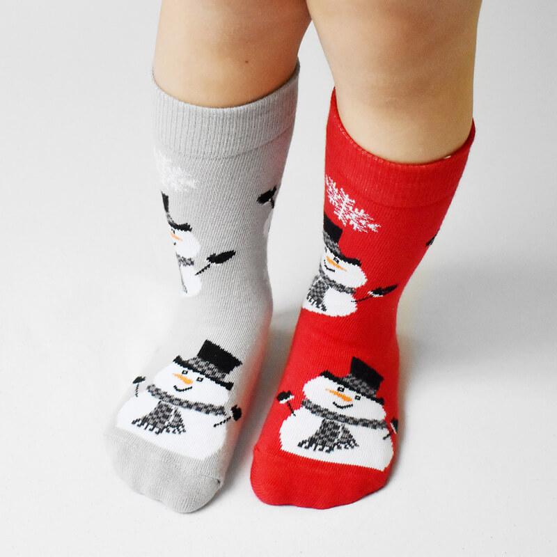 Crazy Step detské ponožky Vianoční snehuliaci - veľkosť 23-26
