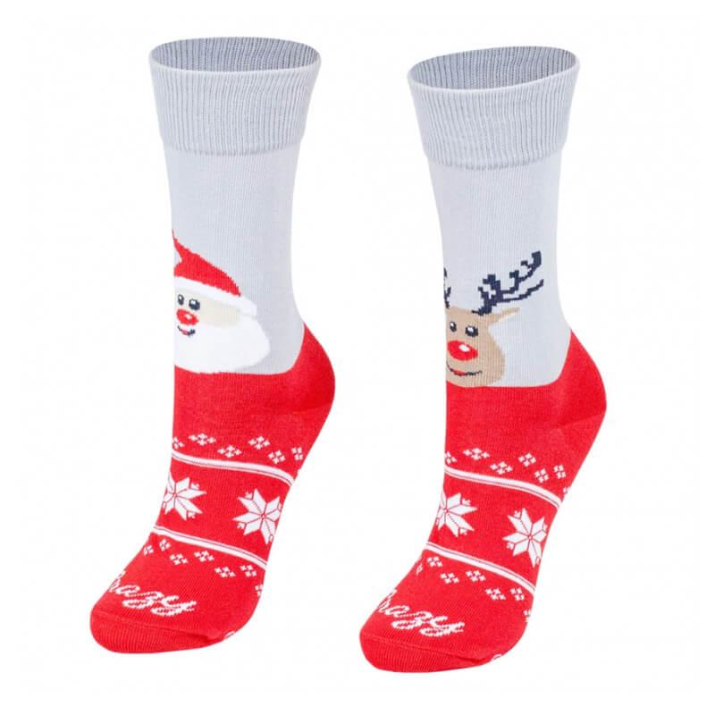 Crazy Step ponožky Santa a sob - veľkosť 35-38