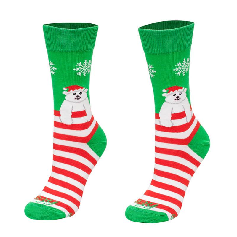 Crazy Step vianočné ponožky Medvedík - veľkosť 35-38