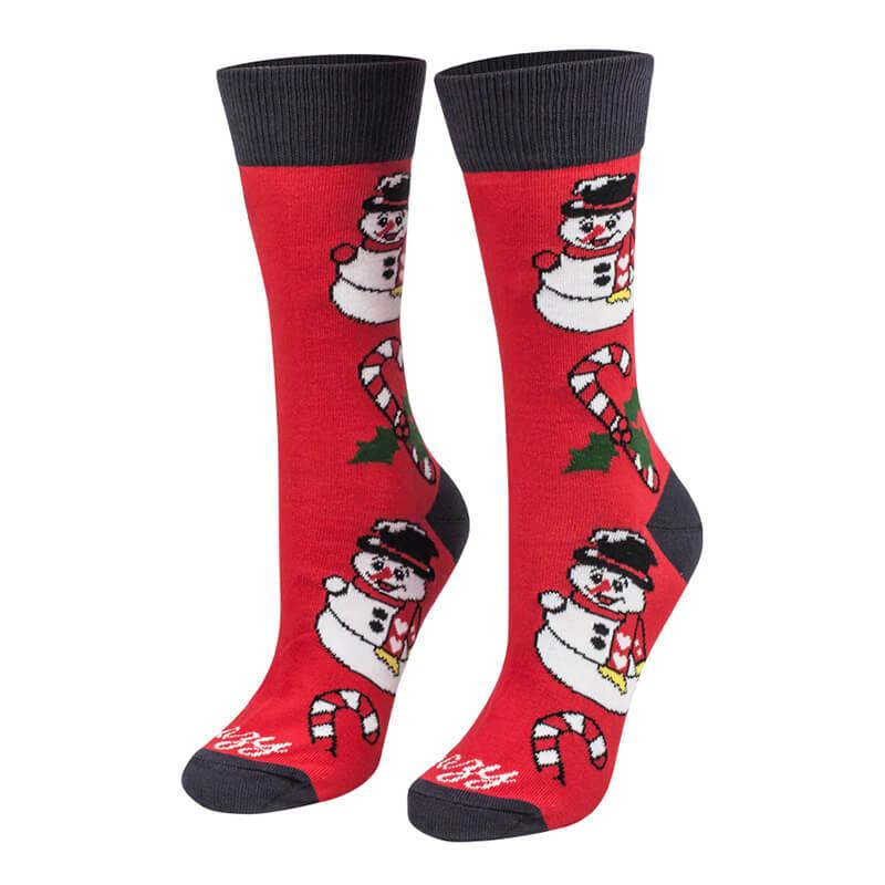 Crazy Step ponožky Vianočný mix červený - veľkosť 39-42