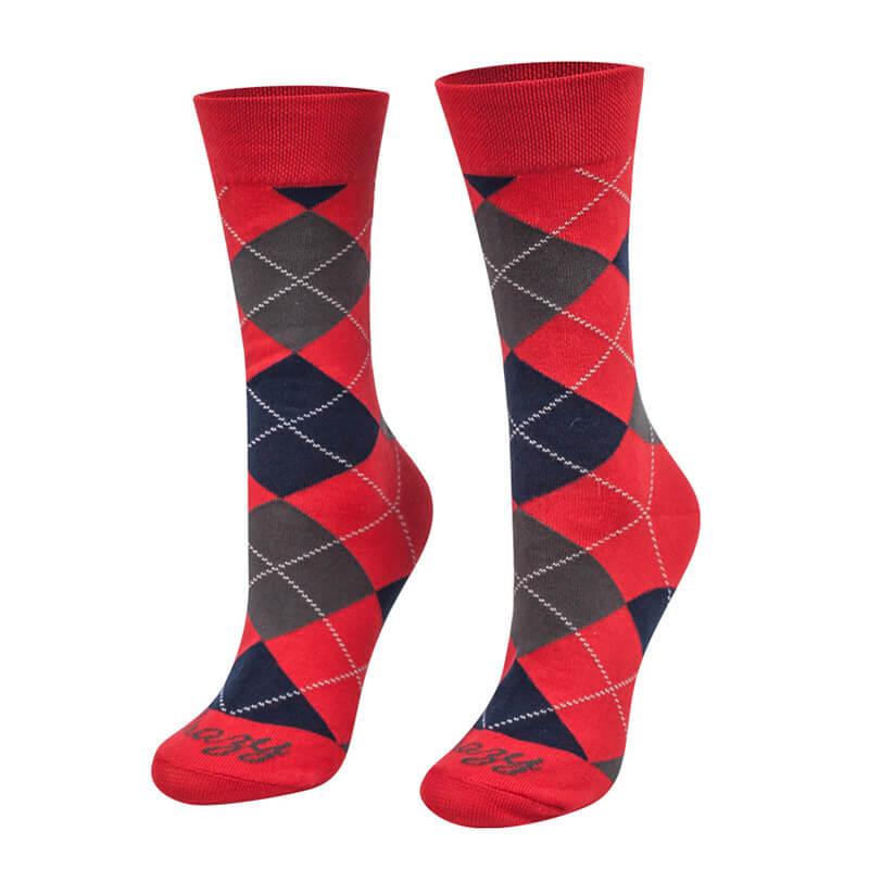 Crazy Step ponožky Kasik Vianoce červené - veľkosť 35-38