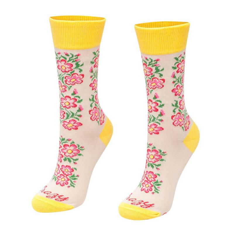 Crazy Step ponožky Žltý kvietok - veľkosť 39-42