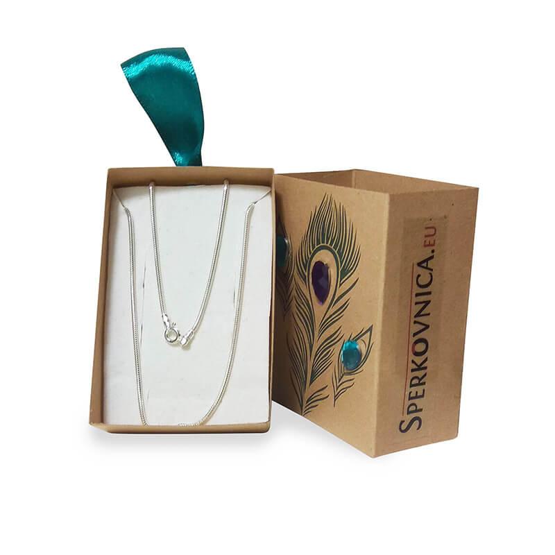 Strieborná retiazka - iba s kúpou setu šperkov Swarovski