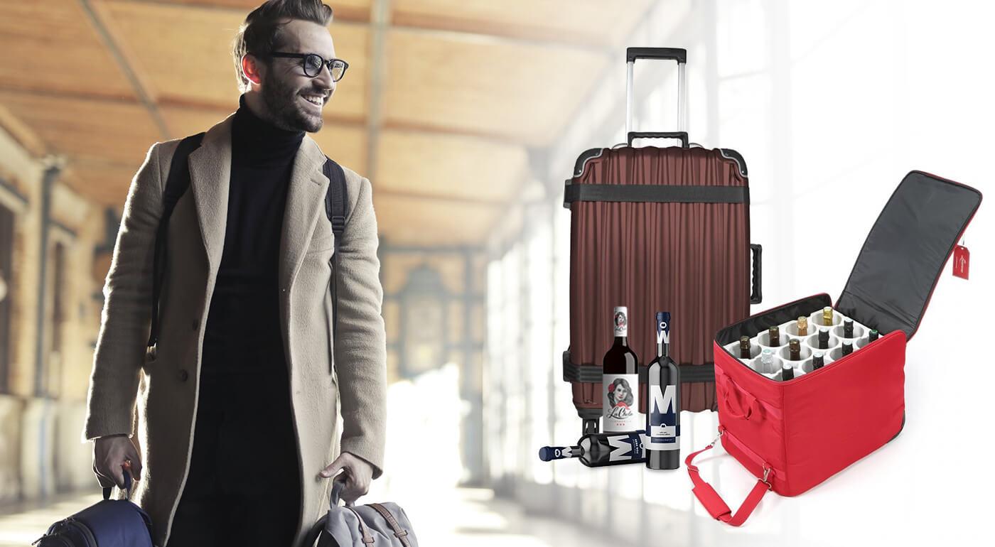 Špičková batožina na víno Wine Luggage, ktorá ochráni vaše sklenené fľaše aj počas cestovania lietadlom