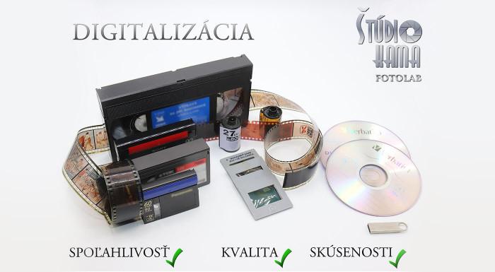 Profesionálna digitalizácia kaziet na DVD/CD/USB