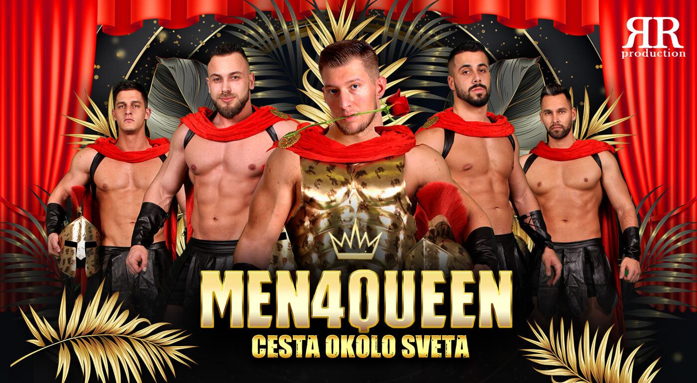 Sexy striptérske vystúpenie skupiny MEN4QUEEN - ukážka z exkluzívnej šou Cesta okolo sveta
