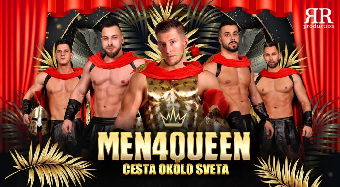 Striptérska šou skupiny MEN4QUEEN