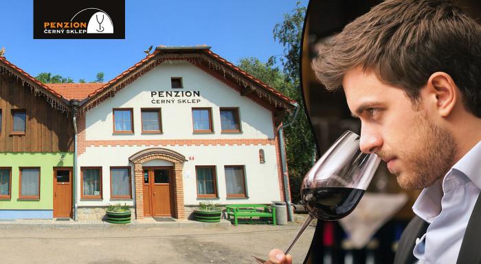 Penzión Černý sklep na Morave s ochutnávkou vín