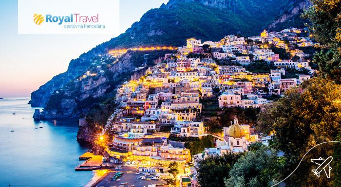 Neapol, Pompeje, Capri a Vezuv letecky