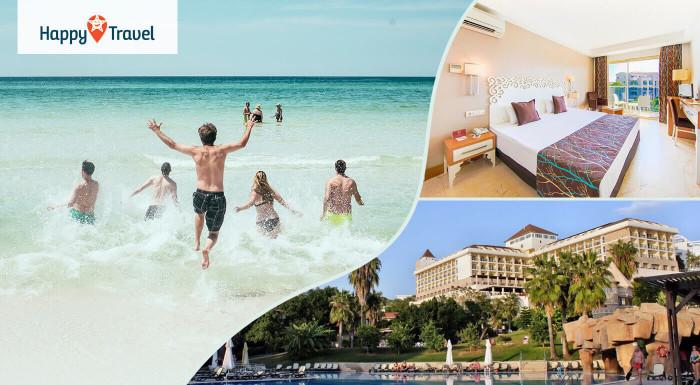 Luxusné leto v Turecku v centre Side na 8 alebo 15 dní v Horus Paradise Luxury Resort Hotel***** s aquaparkom. Ultra all inclusive a letenka z Bratislavy alebo Košíc!