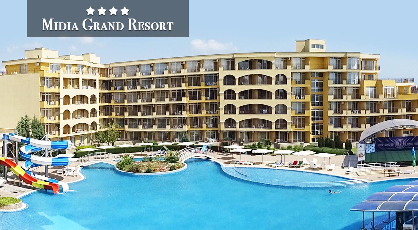 Bulharsko: Skvelá dovolenka na 8 dní v apartmánovom komplexe Midia Grand Resort**** priamo pri pláži