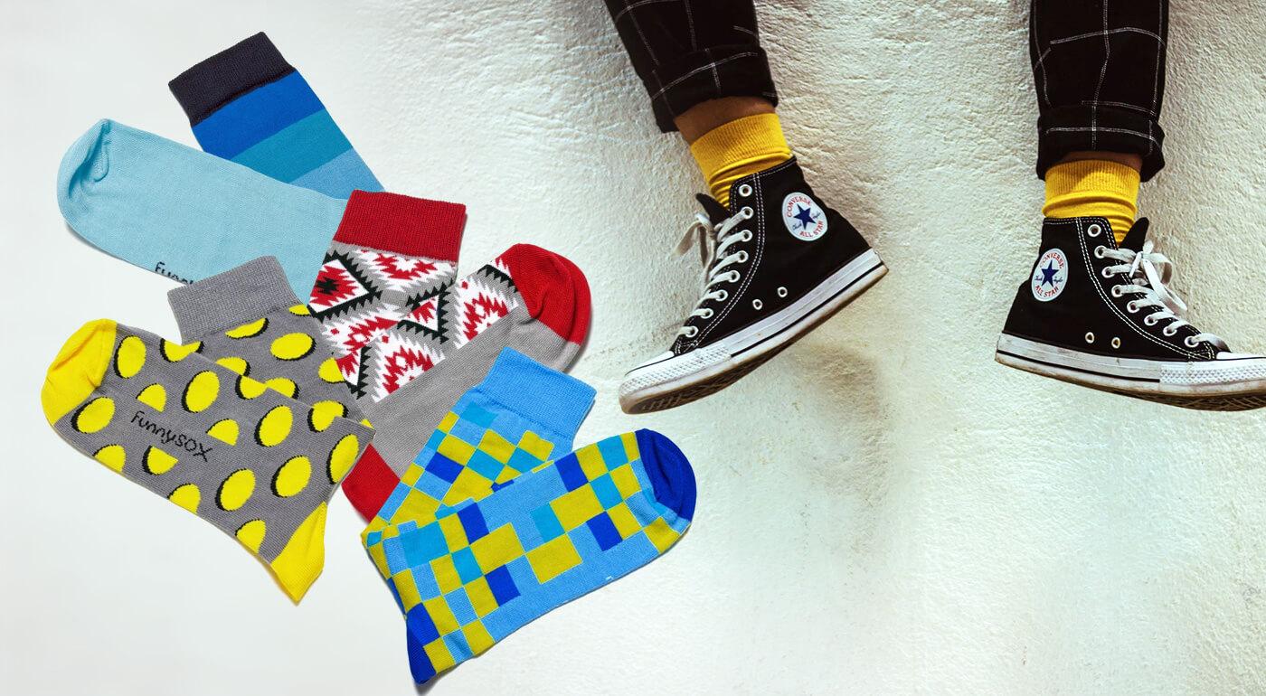 Tradično-netradičné ponožky FunnySOX plné farieb a zaujímavých vzorov