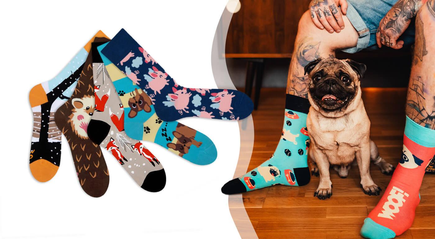 Ponožky Good Mood od Dedoles - edícia Zvieratká