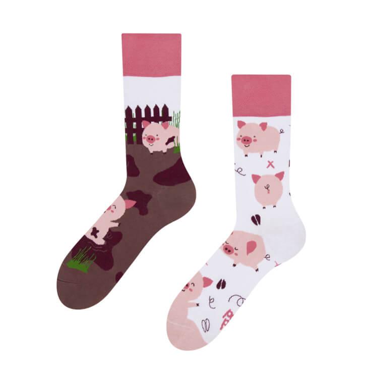 Good Mood ponožky Šťastné prasiatka - veľkosť 35-38