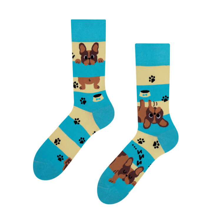 Good Mood ponožky Psy a pruhy - veľkosť 35-38