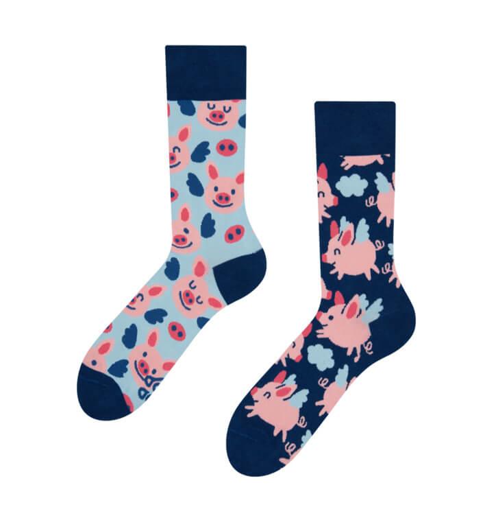 Good Mood ponožky Lietajúce prasiatka - veľkosť 35-38