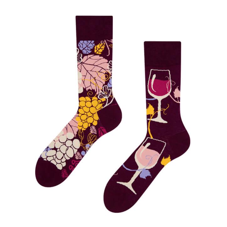 Good Mood ponožky Červené víno - veľkosť 35-38