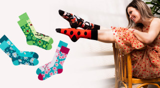 Veselé ponožky Krásy prírody