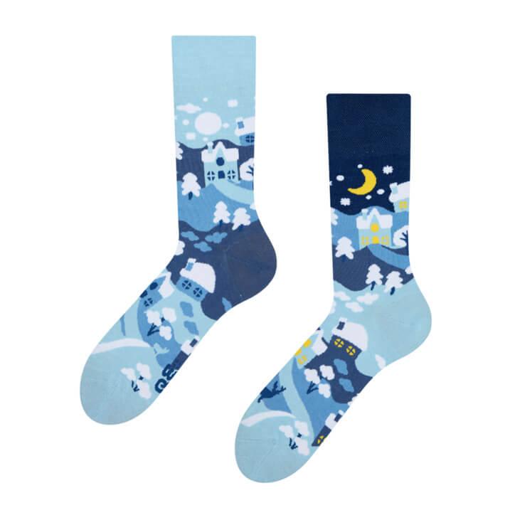 Good Mood ponožky Zimná krajina - veľkosť 35-38
