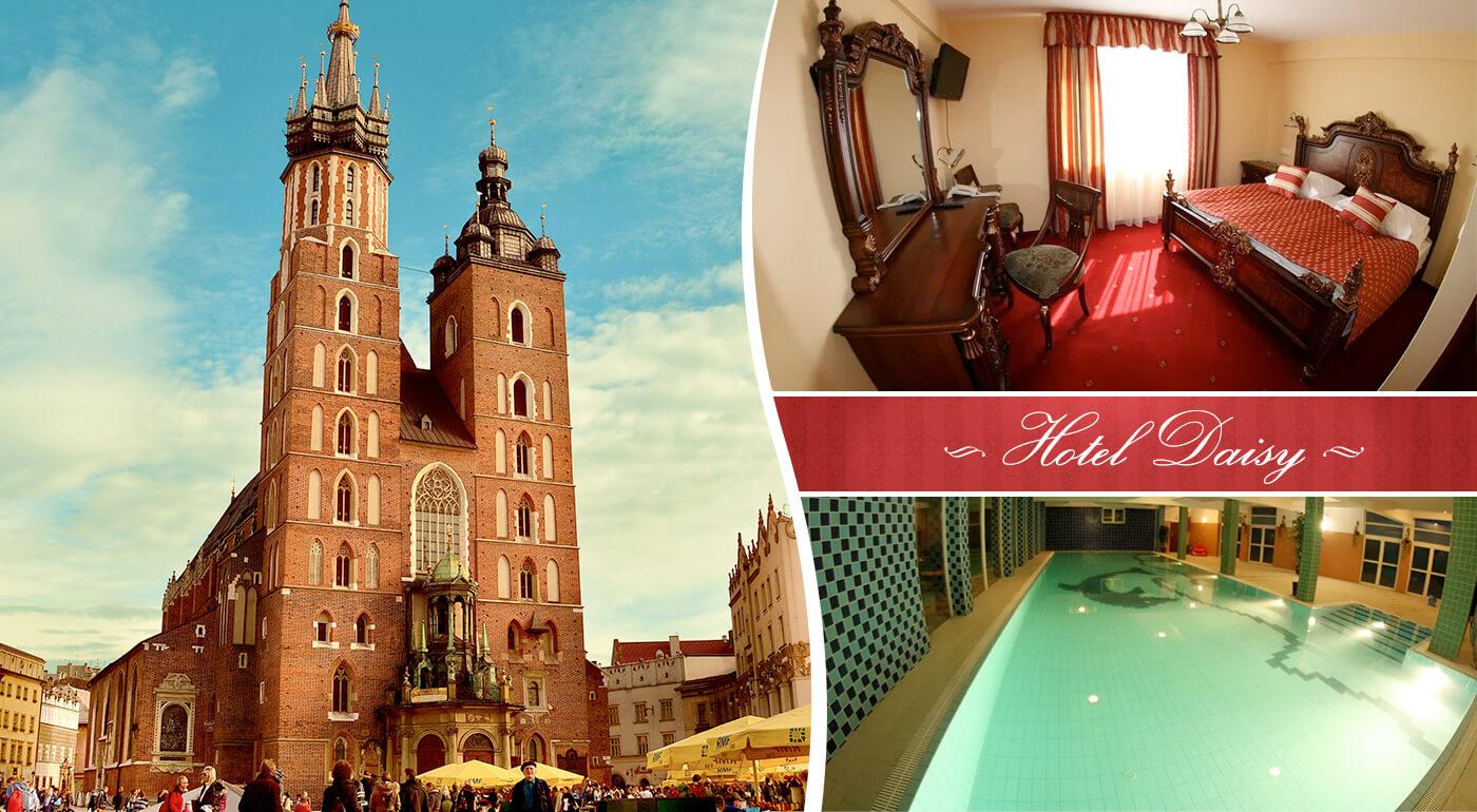 Pobyt v kráľovskom meste Krakow v Hoteli Daisy Superior*** s raňajkami a vstupmi do bazéna a sauny
