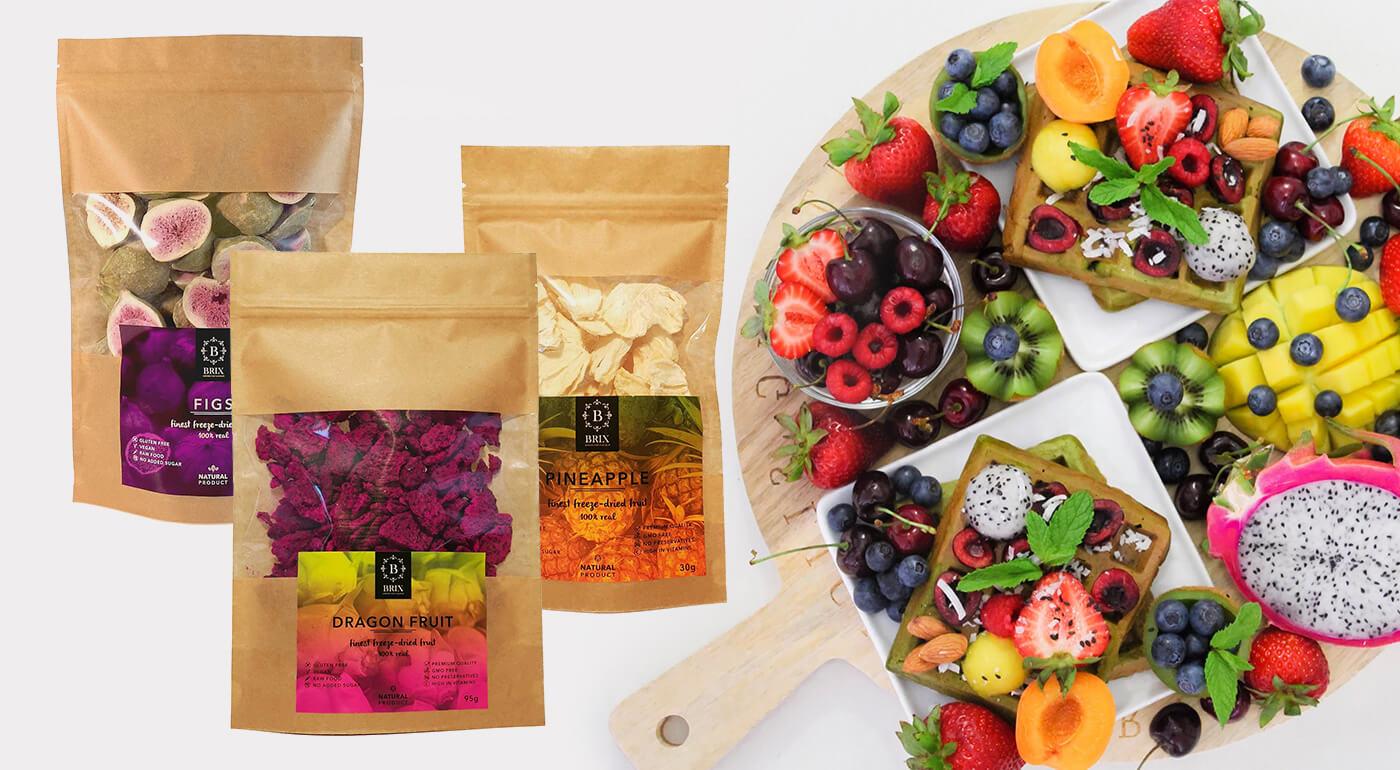 Exotické ovocie sušené mrazom od slovenskej značky BRIX - ocenené značkou GREAT TASTE