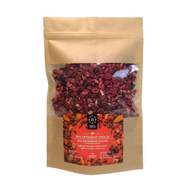 BRIX Mrazom sušená ovocná drť - mix 8 druhov ovocia (slivka, višňa, černica, marhuľa, čierna ríbezľa, jahoda, malina, čučoriedka) 200 g