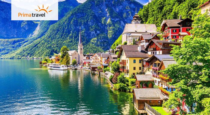 Spoznajte fascinujúce prírodné krásy Rakúska! Zažijete dychvyrážajúcu vyhliadku 5 prstov, čarovný Hallstatt v objatí Álp a obrovskú magickú ľadovú jaskyňu.