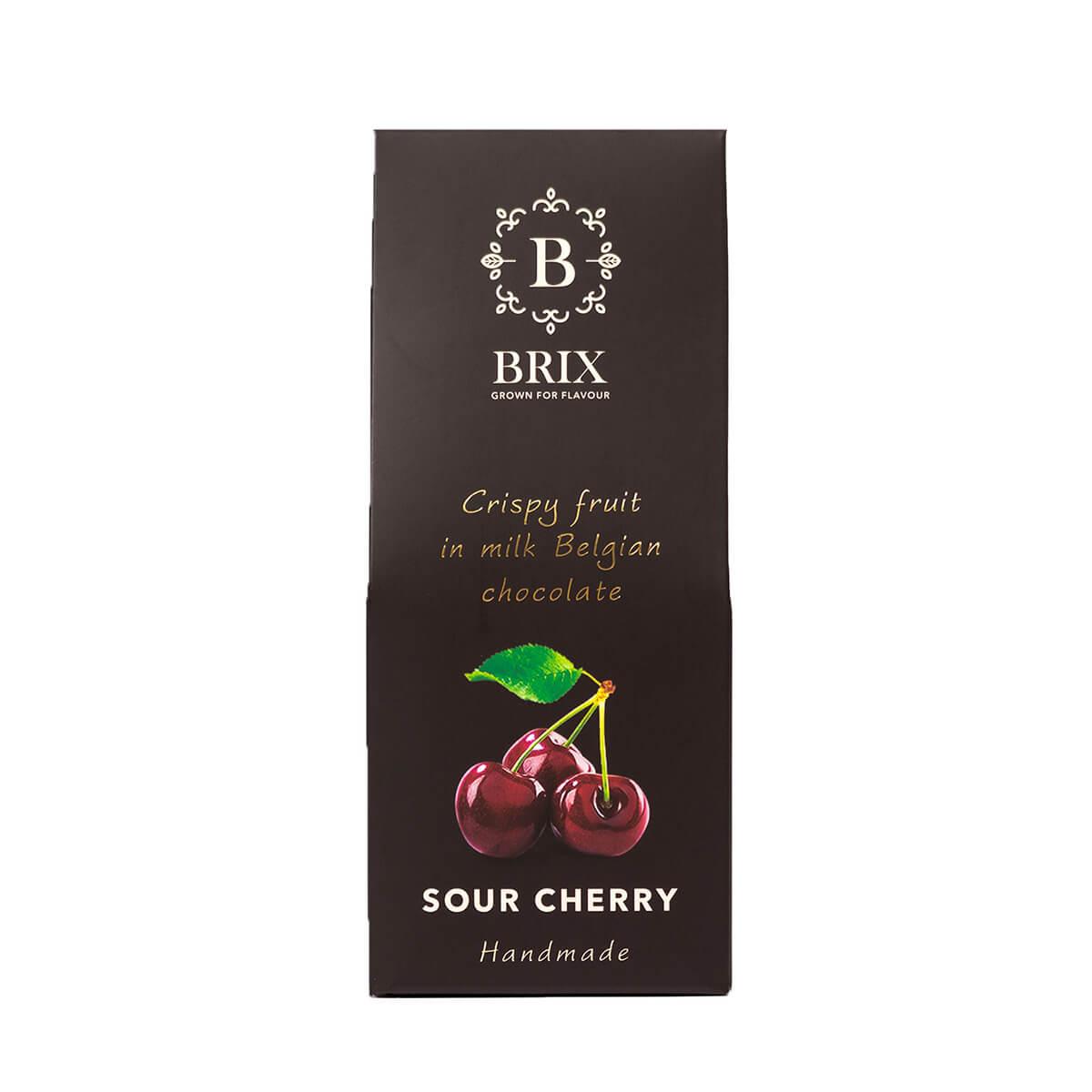 BRIX Mrazom sušená višňa v mliečnej čokoláde 80 g (handmade edition)