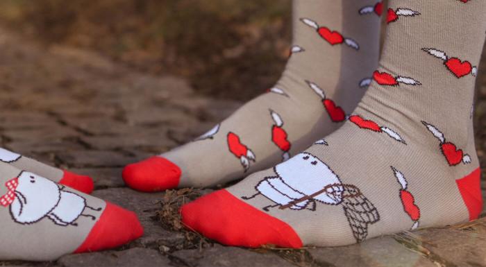 Zaľúbené ponožky Crazy Step nielen na Valentína