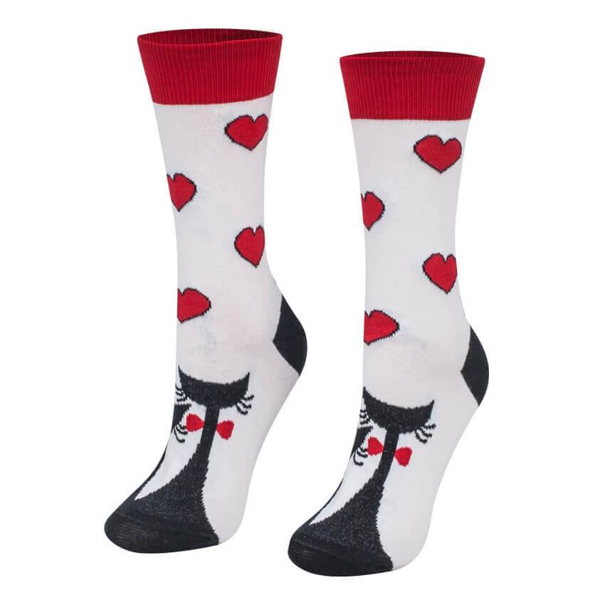 Crazy Step ponožky Zaľúbené mačky - veľkosť 35-38