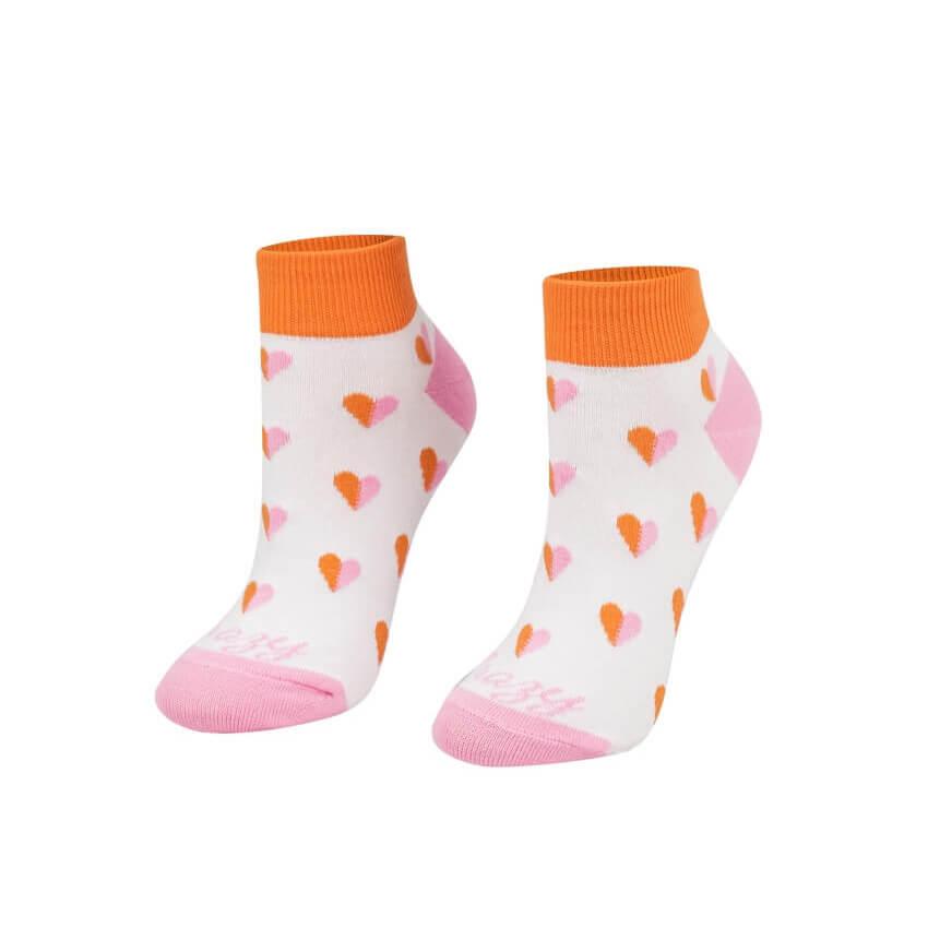Crazy Step členkové ponožky Srdiečka ružové - veľkosť 35-38
