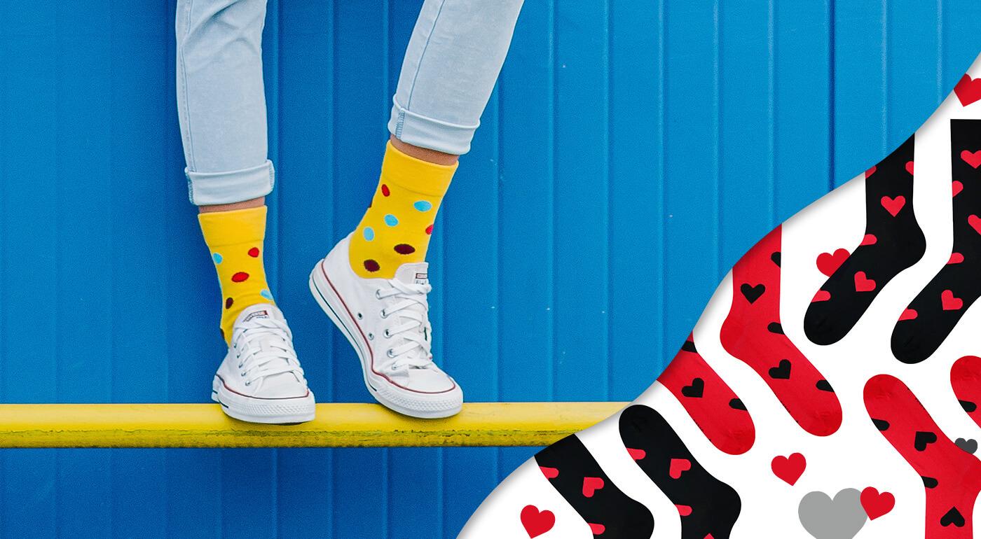 Ponožky Hesty Socks predstavujú edíciu Bodky & Pásiky + valentínsky špeciál ON & ONA