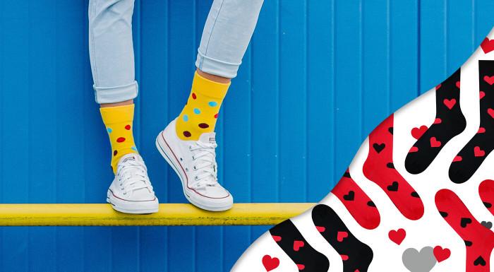 Ponožky Hesty Socks Bodky & Pásiky