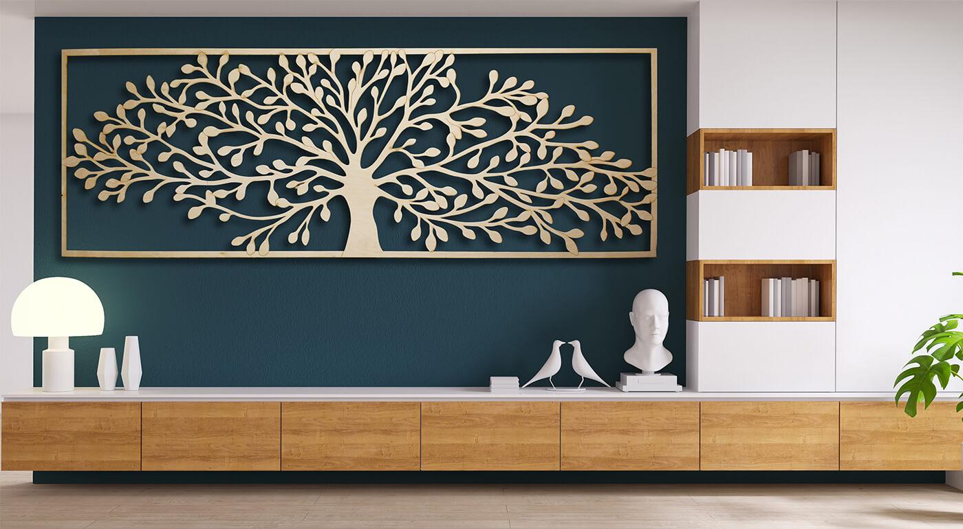 Drevené dekorácie do domu či bytu vyrobené na Slovensku