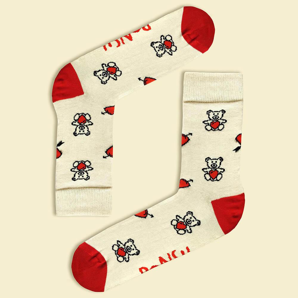Ponožky Ponsh Valentínky - veľkosť 35-38